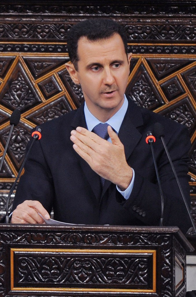 """A bipartisan group of U.S. senators said Wednesday that Syrian President Bashar Assad, above, """"has lost legitimacy in our eyes."""""""