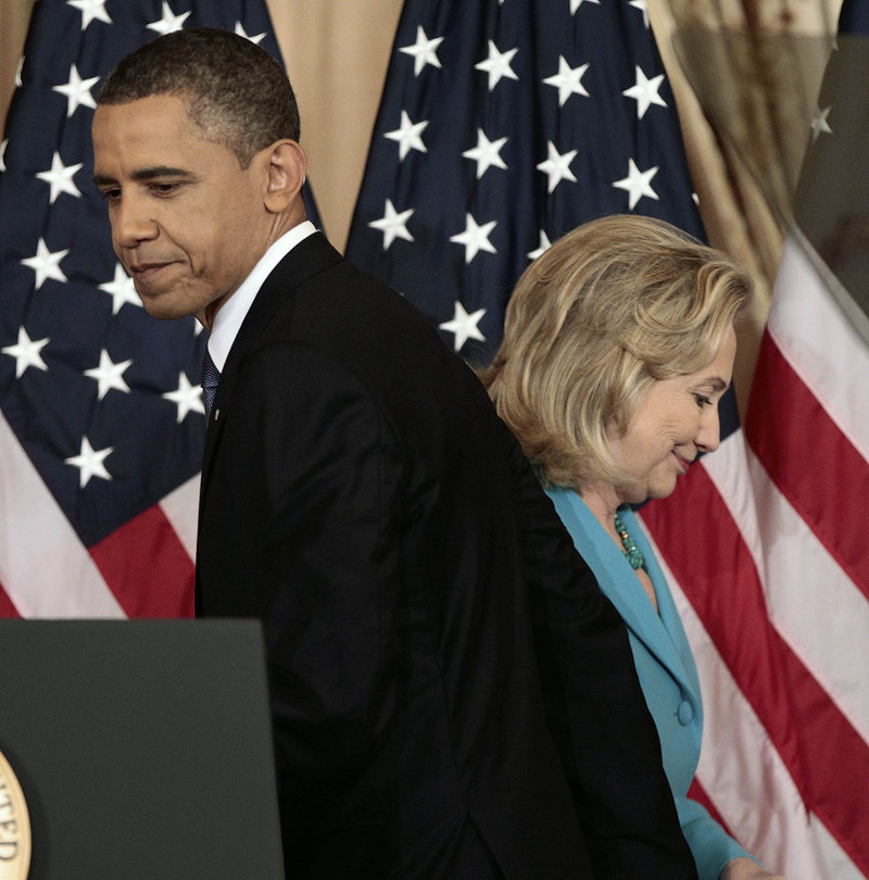 According to her spokesman, Hillary Clinton told President Obama by phone that nothing she said in a magazine interview was an attempt to attack him or his leadership.