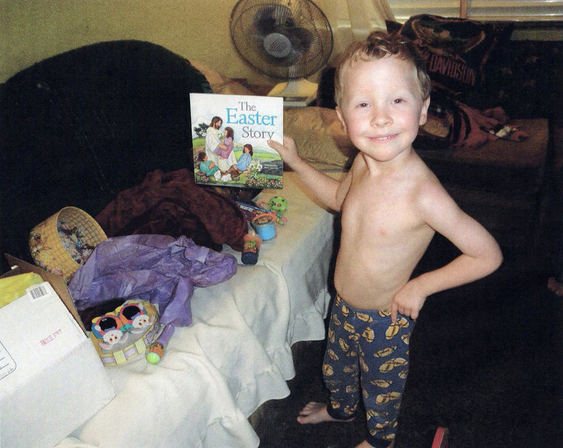 Photo provided by family friend Shirley Miller of Arlington, Texas, shows Camden Hughes, whose mother, Julianne McCrery, is accused of leaving his body in South Berwick. Massachusetts authorities detained her Wednesday, and she made a court appearance Thursday in Portsmouth, N.H.