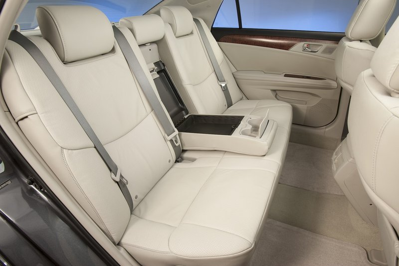 The rear seat of the Avalon is roomy enough that an 11-year-old could lounge in comfort for a seven-hour drive.