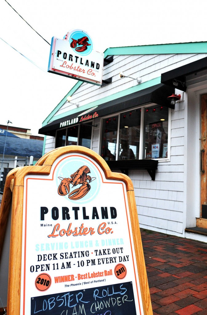 Portland Lobster Company on Commercial Street.