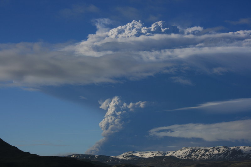 Ash rises from the Grimsvotn volcano in Reykjavik, Iceland on Monday. Officials, however, don't expect a repeat of the widespread flight cancellations in 2010.