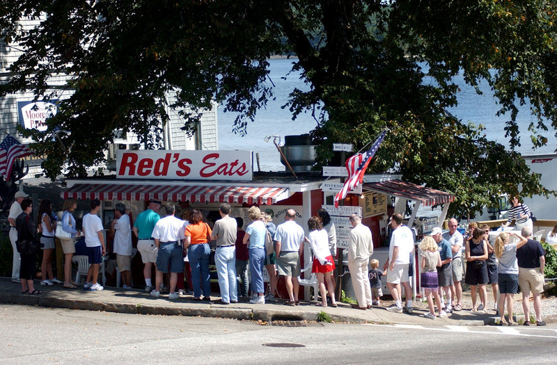 Red's Eats in Wiscasset is a Maine institution where diners willingly wait for their fare.