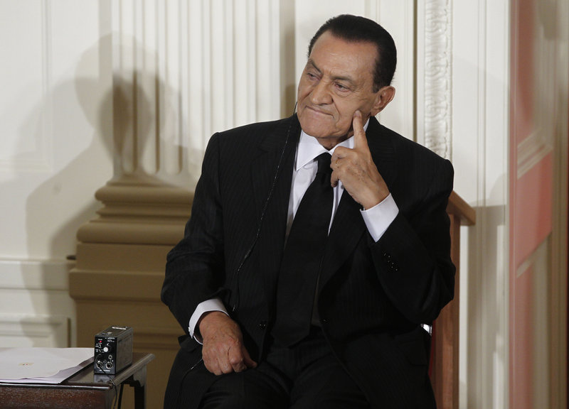 Former Egyptian President Hosni Mubarak faces criminal charges of corruption and conspiring in the deadly shooting of protesters during the uprising that ousted him. The charges could carry the death penalty.