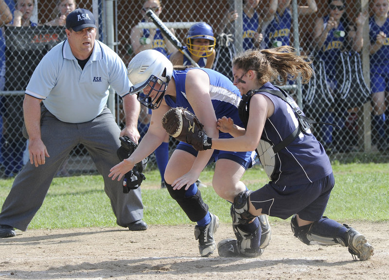 Lake Region had a 1-0 lead Wednesday and was looking for more, seeking to hand Fryeburg Academy its first loss. But when Heidi Jewett attempted to score from second...