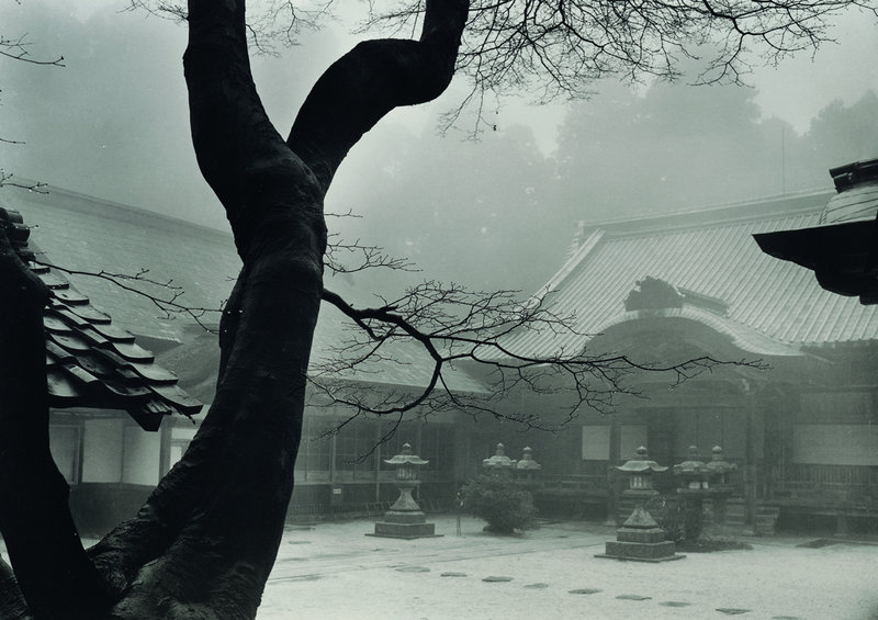 """Hiei-San Temple"" is one of the dozens of images by photographer Paul Caponigro that are on exhibit at the Farnsworth Art Museum in Rockland through Oct. 9."