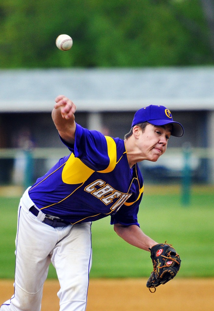 Mitchell Powers of Cheverus allowed five hits against Windham, with one walk and 12 strikeouts.