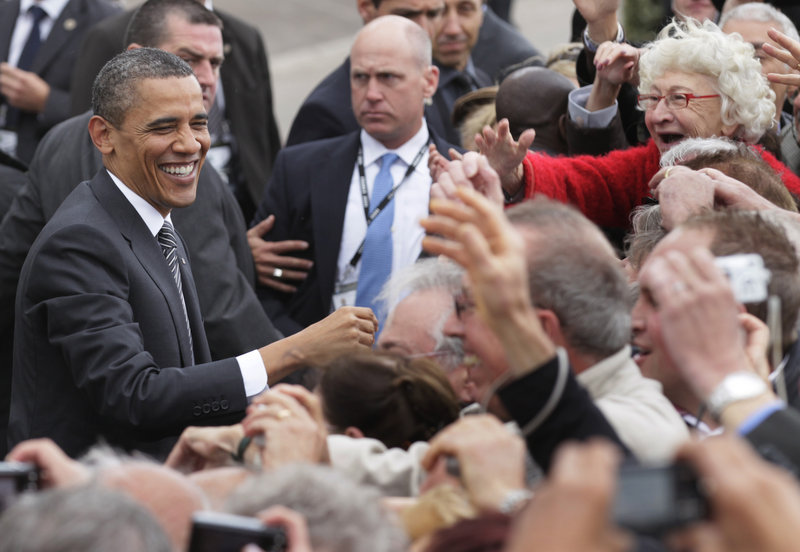 President Obama arrives Thursday in Deauville, France, for the G8 Summit. A slowdown in global growth is on the agenda.