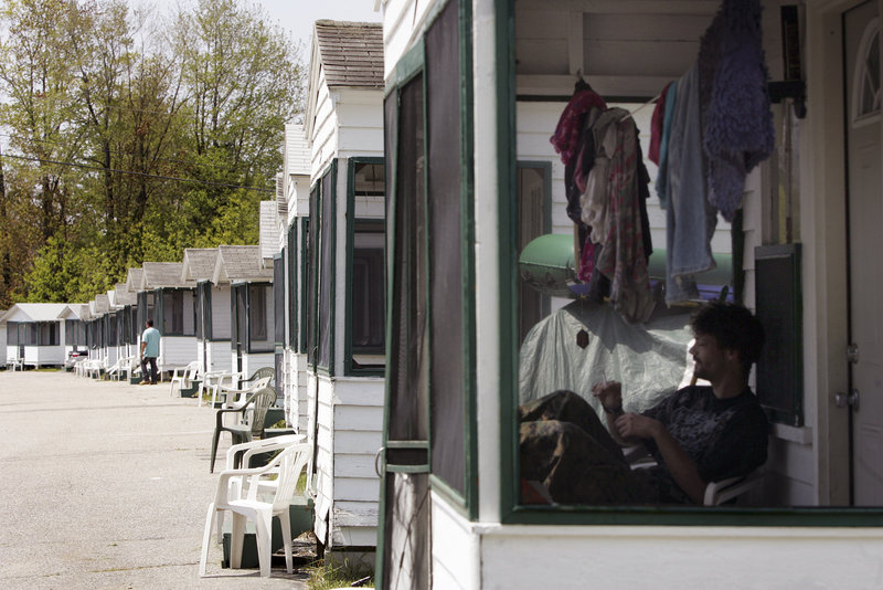 Jeremiah's Cottages on Saco Avenue in Old Orchard Beach will be razed this fall and replaced by 53 modular two-bedroom cottages.