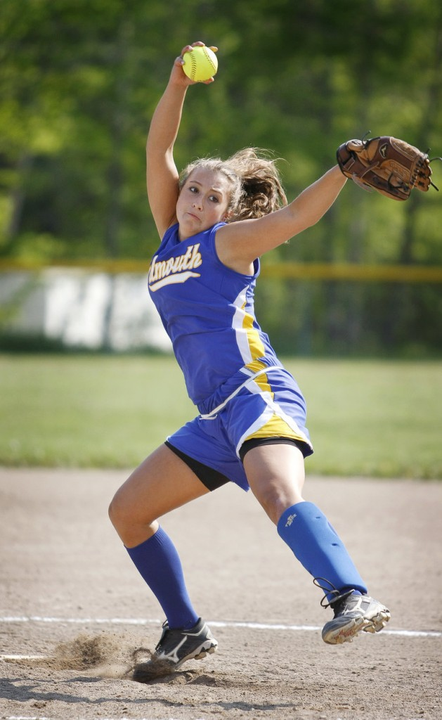 Kelsey Freedman pitched a two-hitter for Falmouth against Sacopee Valley, striking out 10. She also drove in a run with a ground out in the third inning to help the Yachtsmen improve to 8-6.
