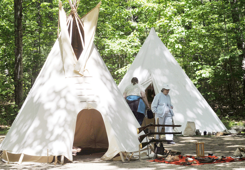 Tepees constructed of a single piece of canvas were often carried by travelers in the 1700s and early 1800s in Maine.