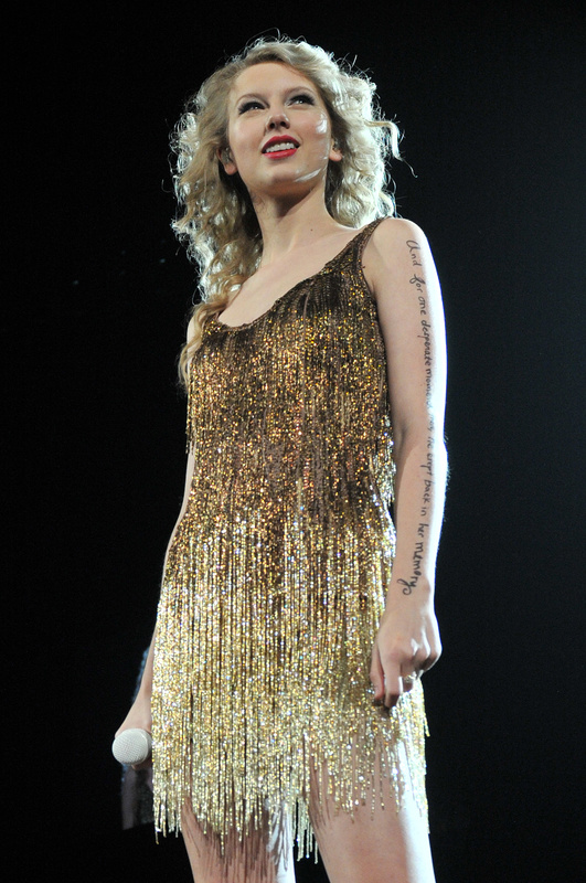 Taylor Swift performs Saturday while on tour in Orlando, Fla. Swift was not able to attend the CMT Music Awards on Wednesday, but appeared via video feed from Wisconsin.