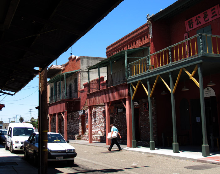 China Alley in Hanford, Calif., which once bustled with a temple, herb shops and gambling den, is on the list of endangered places.