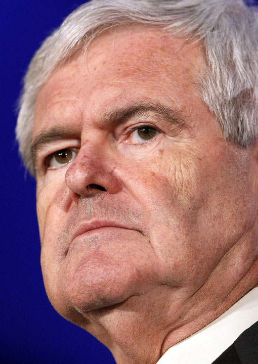 Presidential hopeful Newt Gingrich appears at the Republican Leadership Conference in New Orleans in this June 16, 2011, photo.