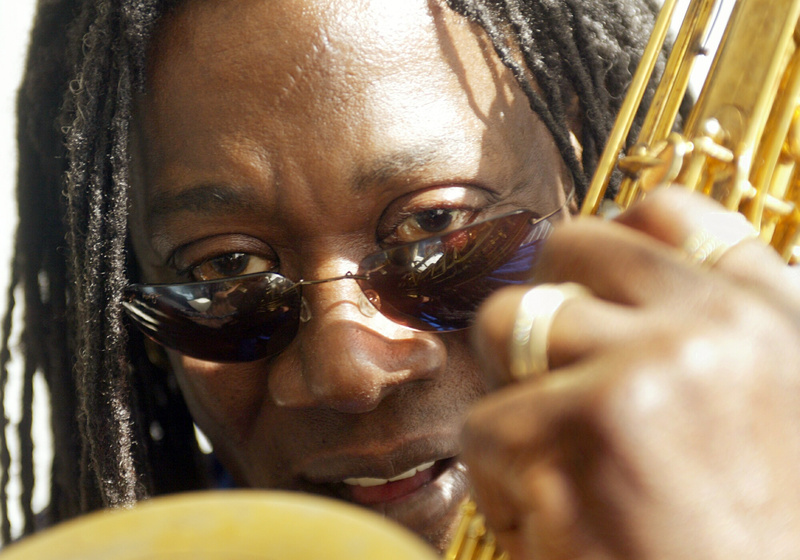 This Jan. 29, 2003, picture shows Clarence Clemons during an interview at his Singer Island, Fla., home. A spokeswoman for Bruce Springsteen and the E Street Band says saxophone player Clarence Clemons died in Florida Saturday.