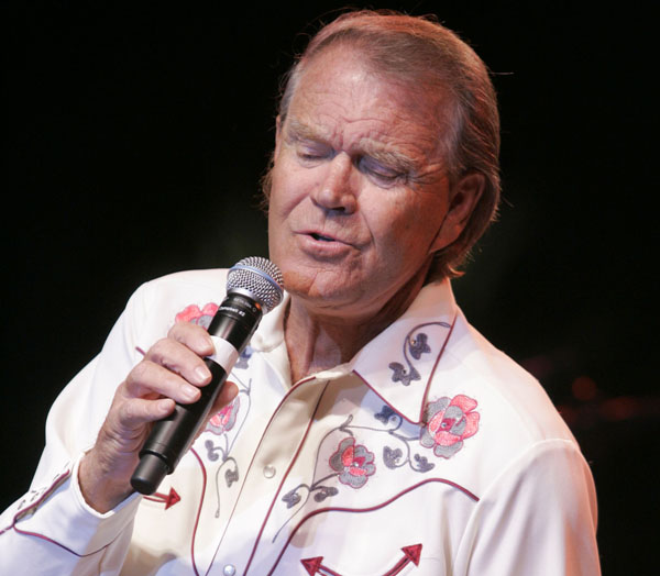 A May 2, 2008, photo of singer Glen Campbell performing at the Stagecoach Music Festival in Indio, Calif.
