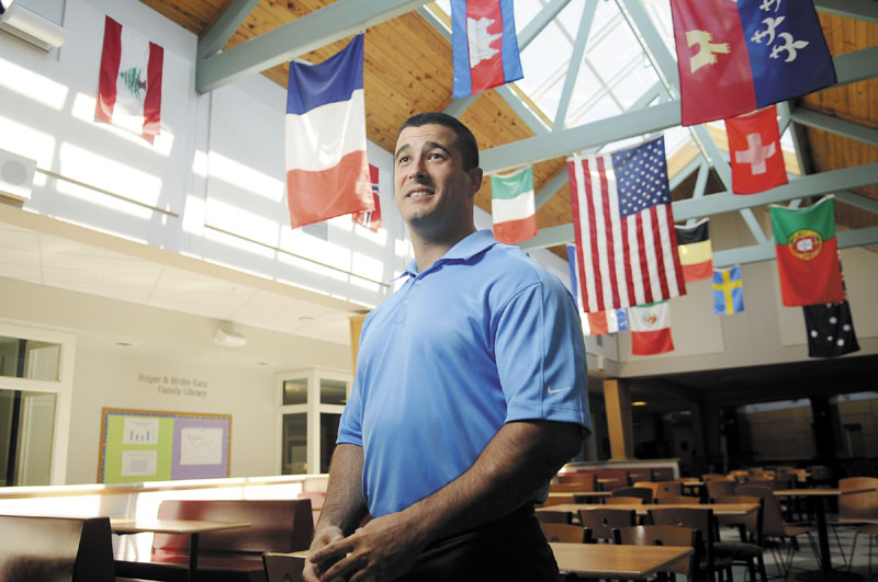 Chad Strout is the school reintegration officer for Cony High/Middle Schools in Augusta, where he monitors truants and works with them to help keep them in school.