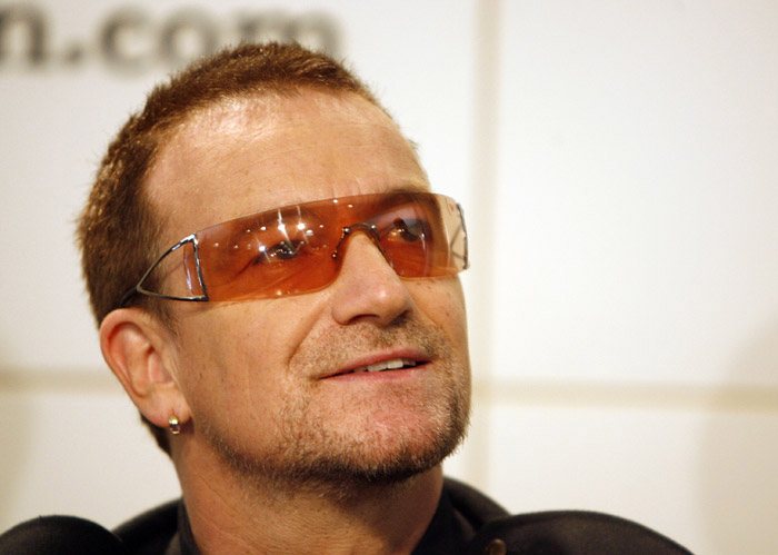 Bono, lead singer of the band U2, in a 2006 photo in New York.