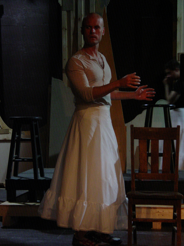 "Craig Baldwin plays Beatrice in Opera House Arts' Shakespeare in Stonington production of ""Much Ado About Nothing."""