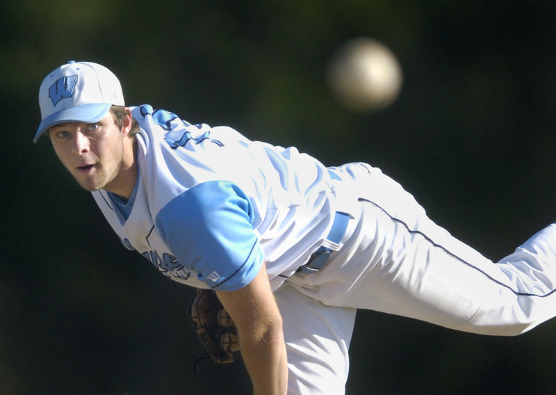 Derek Davis/2011 Press Herald File Scott Heath, who was named the Maine Gatorade player of the year for baseball, not only didn't give up an earned run on the mound, but batted .390 this season for Westbrook.