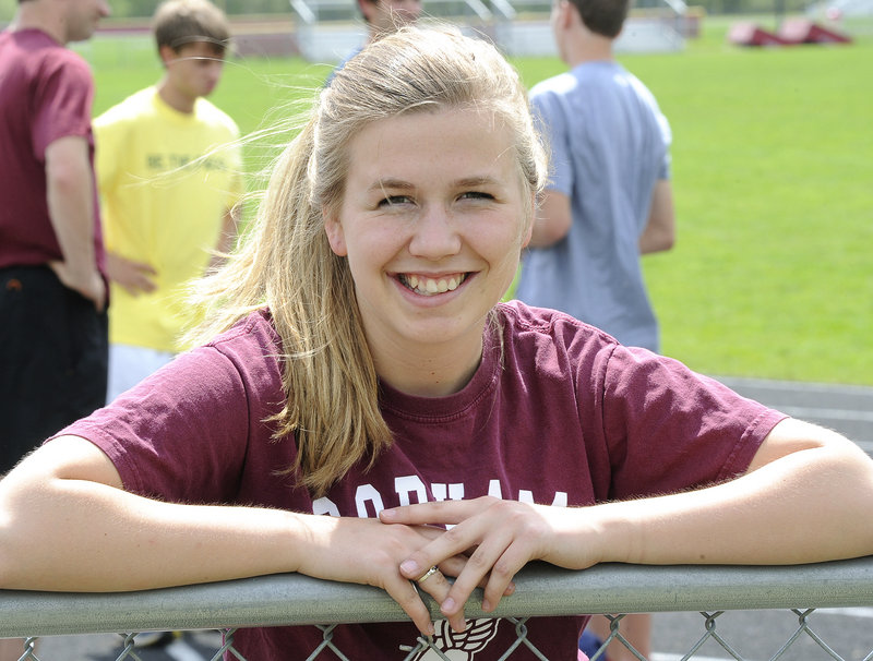 Kaitlin Flanders of Gorham admits it took a while to sell her on the idea of racewalking, but now she is among the nation's top high school racewalkers.
