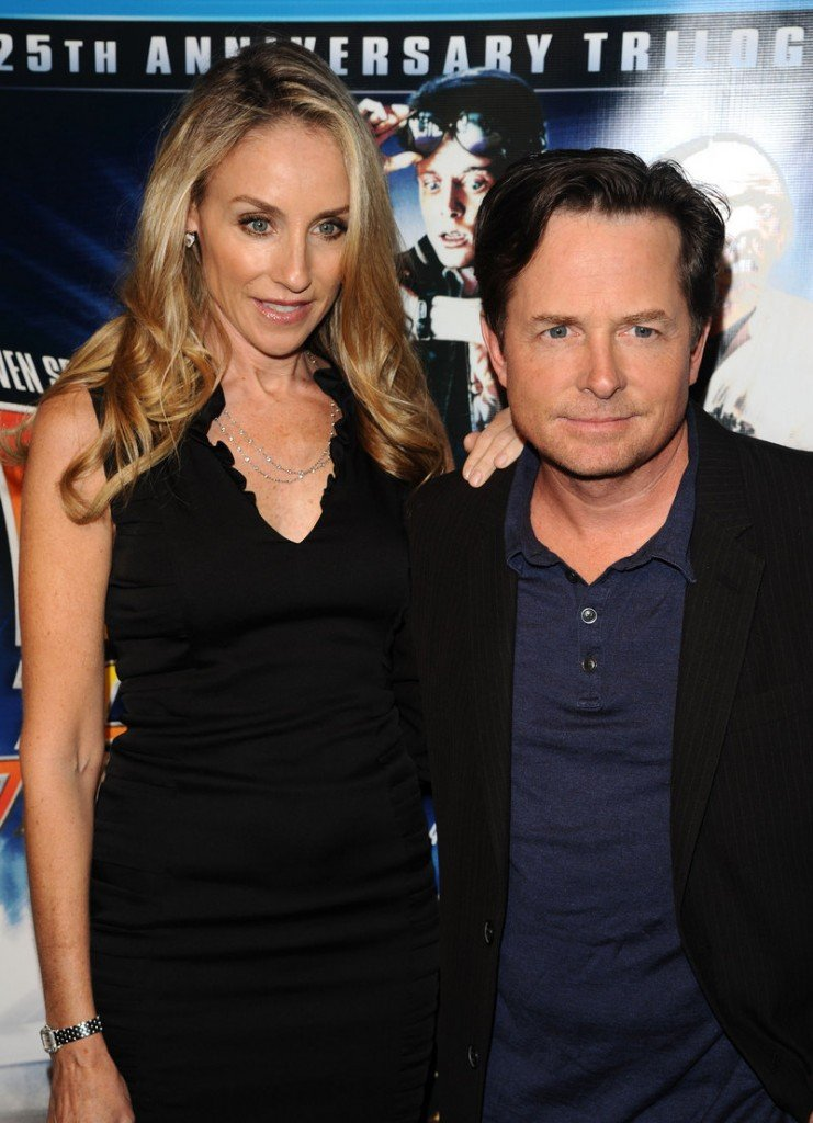 Michael J. Fox and his wife, Tracy Pollan