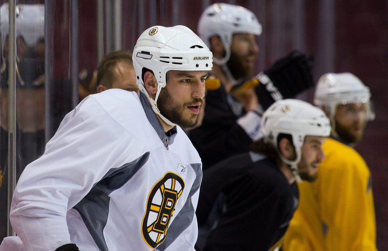 Milan Lucic, a native of Vancouver, is making his second trip to the city this season. He scored the go-ahead goal Feb. 26 when Boston won a meeting with the Canucks.