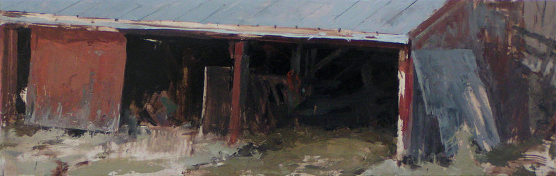 """Ross Grams was the People's Choice Award winner in Art2011 at the Harlow Gallery in Hallowell for """"Under the Barn."""""""