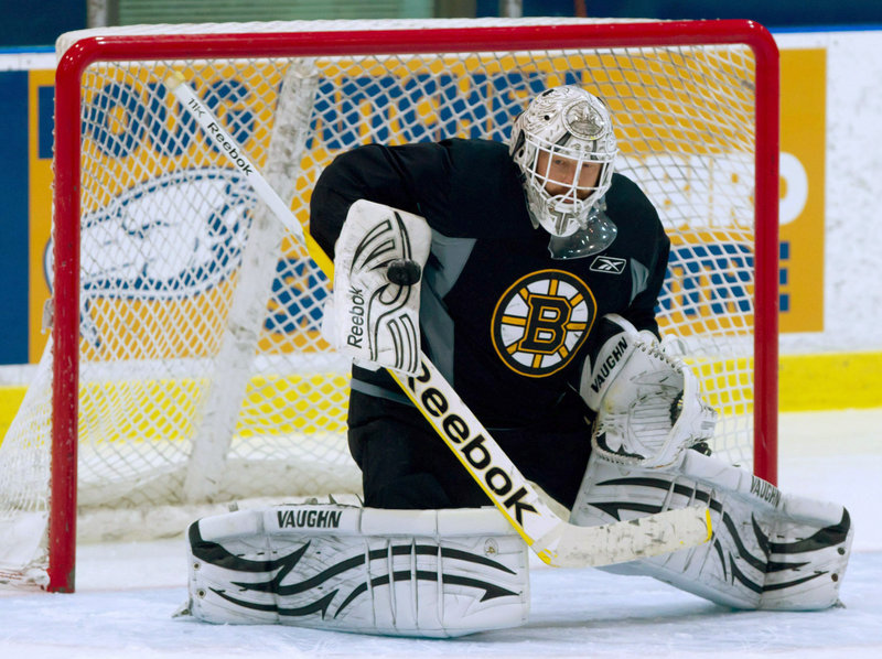 Tim Thomas' aggressive style of play both helps cut a shooter's angle and force attacking players to stay out of his way or face possible penalties. The rules back him up.