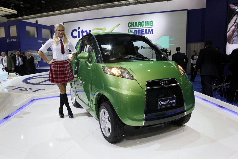 South Korean automaker CT&T introduces it's e-Zone Plus concept car in January at the North American International Auto Show in Detroit. CT&T has backed away from plans for car production in Hawaii, South Carolina and Pennsylvania because of financial difficulties.
