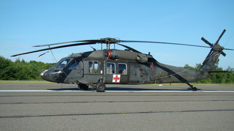 A Backhawk med-evac helicopter.