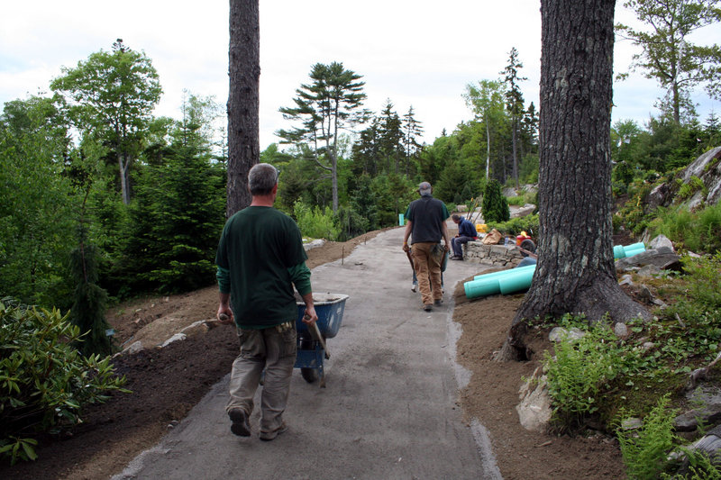 Improvements to the Haney Hillside Garden have included not just plantings but also a new, more intimate trail with a surface that's easier for walking.