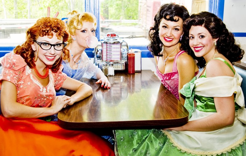 From left: Morgan Smith, Danielle Erin Rhodes, Lara Seibert and Brittney Morello star in Maine State Music Theatre s latest offering.