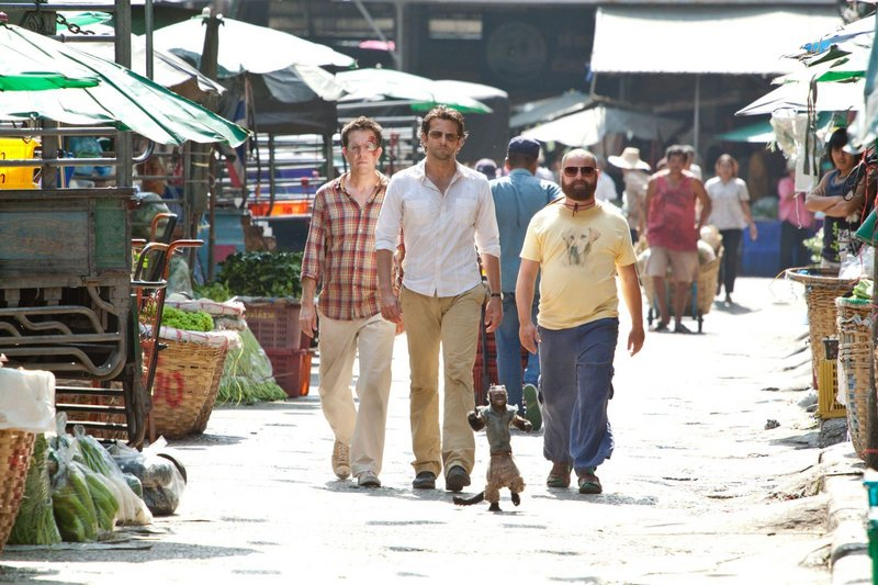 Ed Helms, left, as Stu, Bradley Cooper as Phil and Zach Galifianakis as Alan in