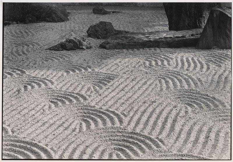 "By Paul Caponigro: ""Sand Garden, Tofukuji Temple, Kyoto, Japan,"" 1976."