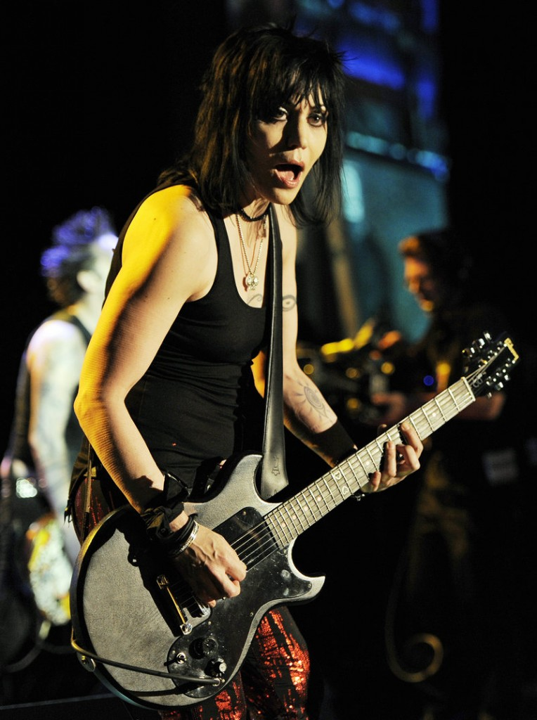 Joan Jett, performing at the Annual Race to Erase MS Gala in Los Angeles, says a tribute album for The Runaways used her name without permission.