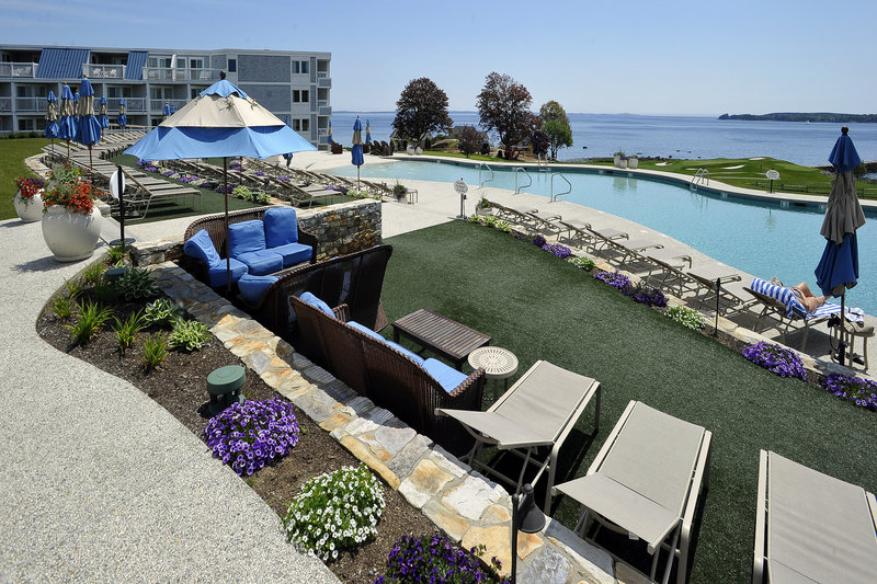 A new pool with amenities including a bar is among the renovations at Ocean Properties' Samoset Resort in Rockport.