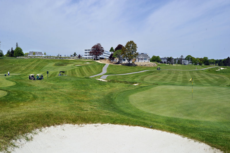 The Samoset Golf Course is the centerpiece of the Samoset Resort in Rockport. New cottages are in the final stages of construction at the center of the course. Ocean Properties owns nine hotels in Maine.