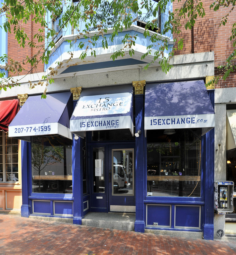 15 Exchange Grille, which recently changed its name from 15 Exchange Bistro, affords diners a fine view of the passing scene on busy Exchange Street in the heart of Portland's Old Port.