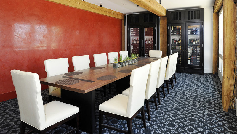 This is one of the new private dining rooms featured at the Samoset. Ocean Properties is adding a restaurant and an antipasto bar in the current round of renovations.