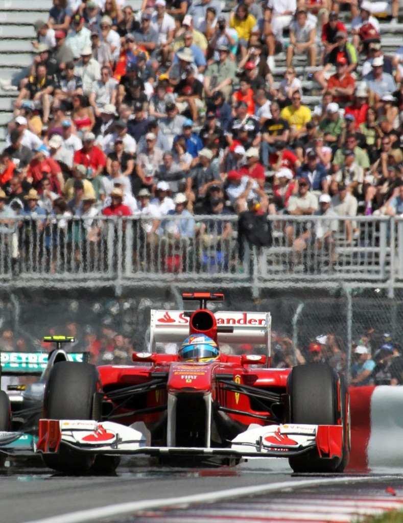 Fernando Alonso of Spain posted the fastest time during the second practice session on Saturday for the Formula 1 Canadian Grand Prix auto race in Montreal.