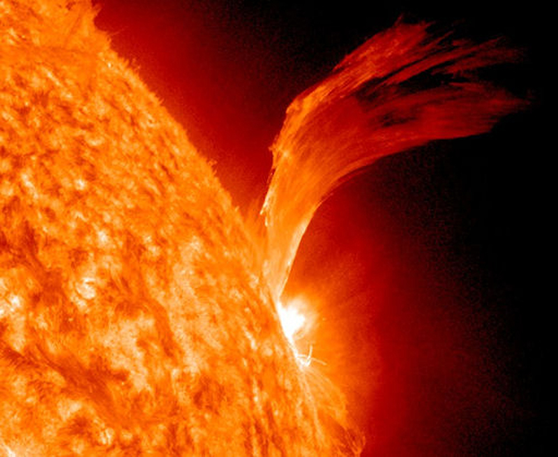 Researchers say solar flares like this one in 2010 will become less frequent for possibly decades, as the sun cycles into a quiet period that first became evident a few years ago.