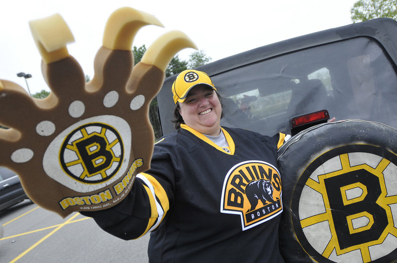 Terry Geyer of Buxton, a longtime Boston Bruins fan, is ready for Game 7 of the Stanley Cup finals tonight in Vancouver.