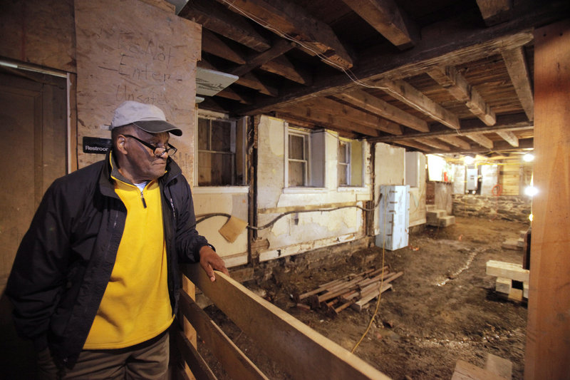 Leonard Cummings talks about the latest stage of renovations at the Abyssinian Meeting House in Portland. This summer, the basement will be excavated to pinpoint the source of a water rivulet so it can be diverted around the outside of the building.