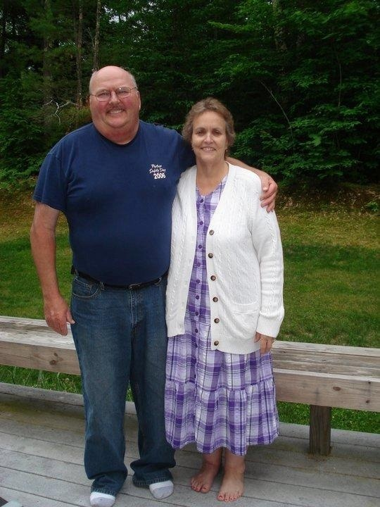 Dennis Daniello Sr. poses with his wife, Joyce, at a family gathering in June 2010.