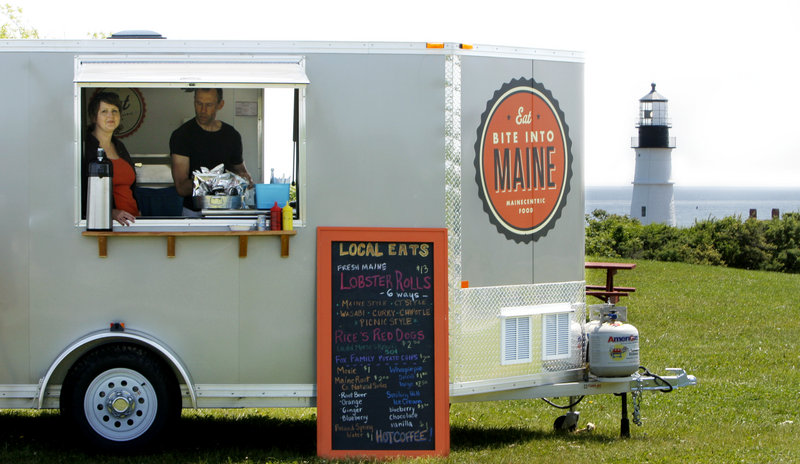 Sarah Sutton and her husband, Karl, operate a food stand, called Bite Into Maine, at Fort Williams Park in Cape Elizabeth. They hold the park's only full-season permit, from May 1 to Oct. 31.