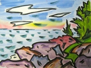 """From """"Painting Maine II,"""" which features 11 works by eight artists."""