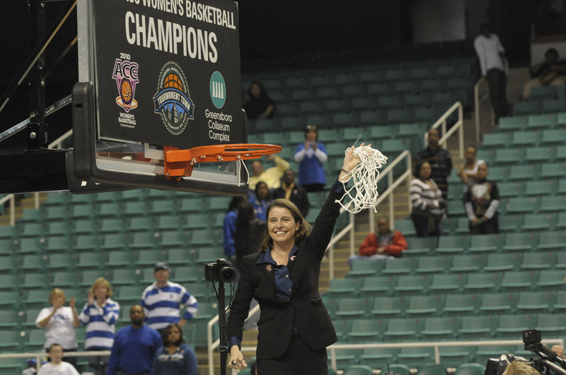 Joanne P. McCallie started her basketball career at Brunswick High and is now leading Duke to NCAA tournaments. She speaks today at a banquet for Maine Sunday Telegram MVPs.