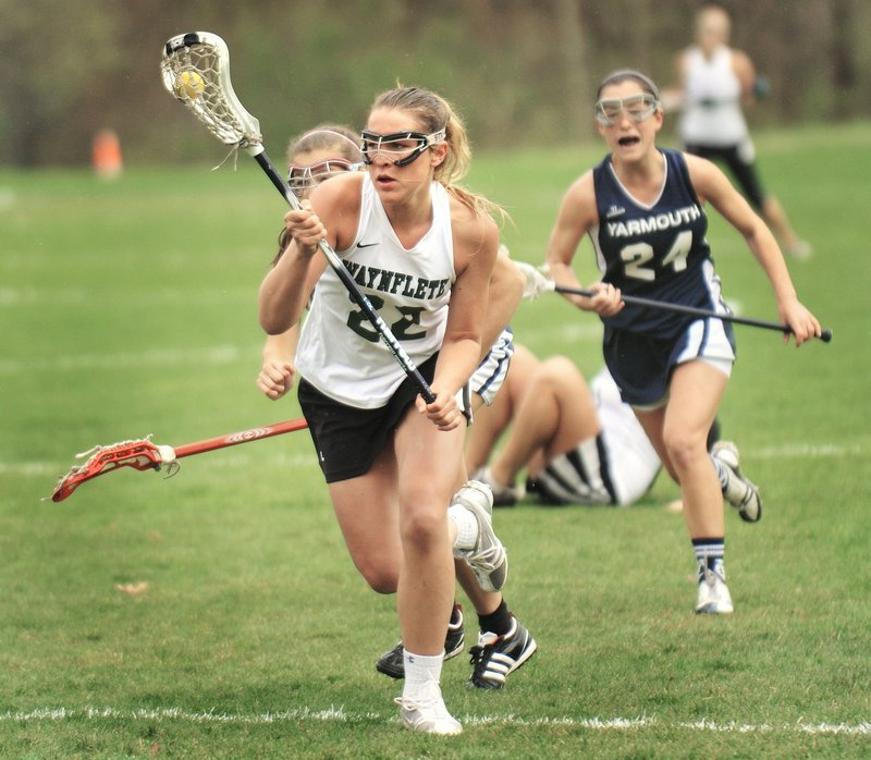Scout Haffenreffer was a force for Waynflete against Yarmouth in the regular season, and will look to step up again when the teams meet for the Class B title.
