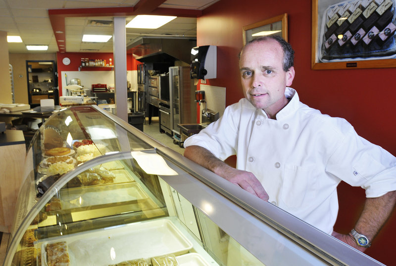 "Ed Foley at his new bakery in downtown Portland on Friday. Ed ""doesn't belong in an office,"" says his wife, Molly."